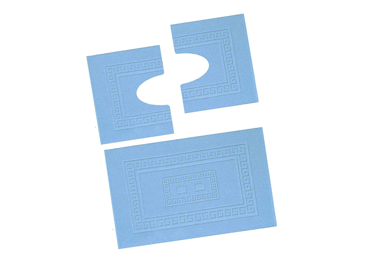 Tappeti Bagno Su Misura Torino dettagli su tappeto in spugna da bagno modello torino azzurro